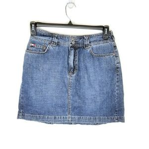 Tommy Hilfiger 100% Cotton Denim Mini Skirt Size 6